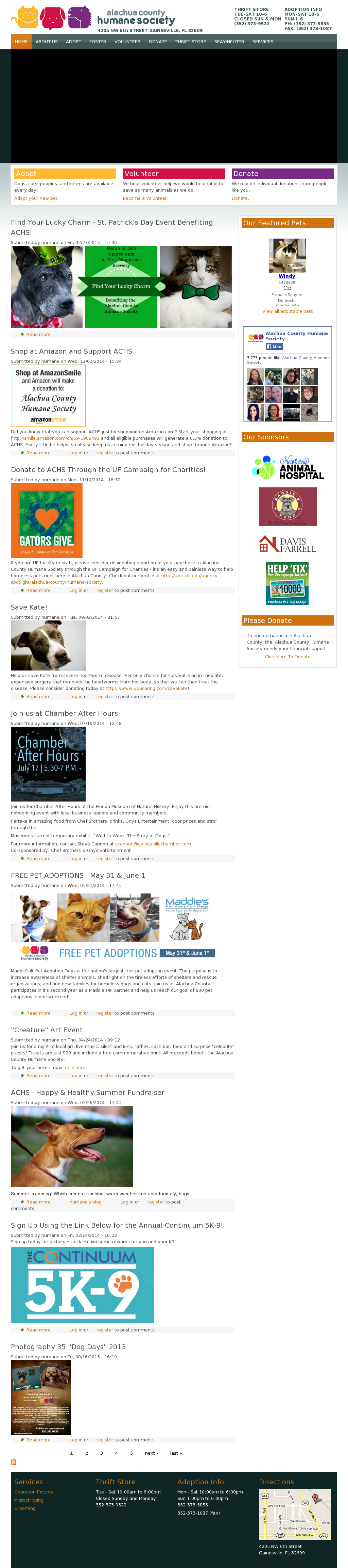Alachua County Humane Society Competitors, Revenue and