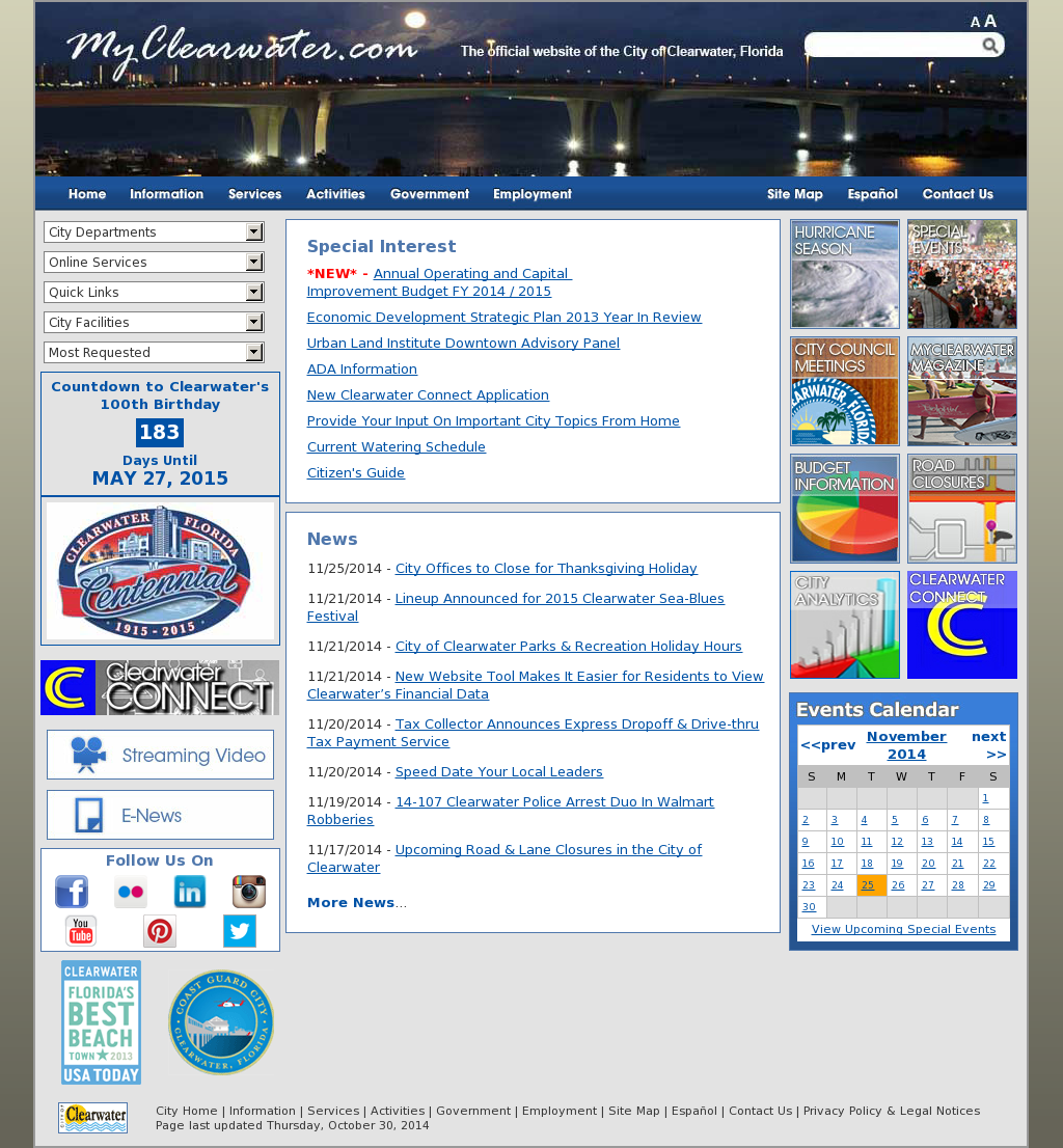 City of Clearwater, Florida Competitors, Revenue and Employees
