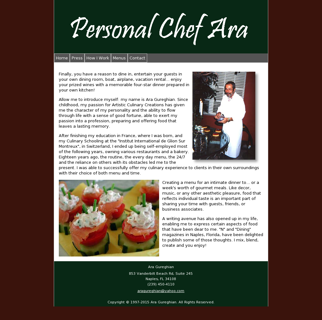 Personal Chef Ara Competitors, Revenue and Employees - Owler Company