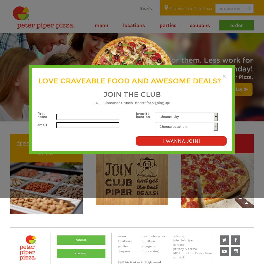 peter piper pizza deals