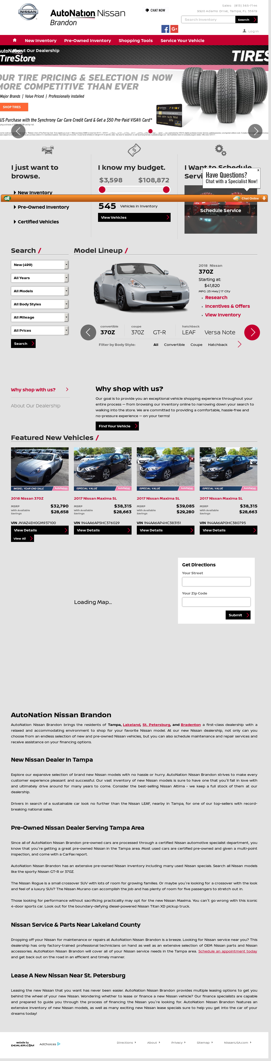 AutoWay Nissan Of Brandon Website History