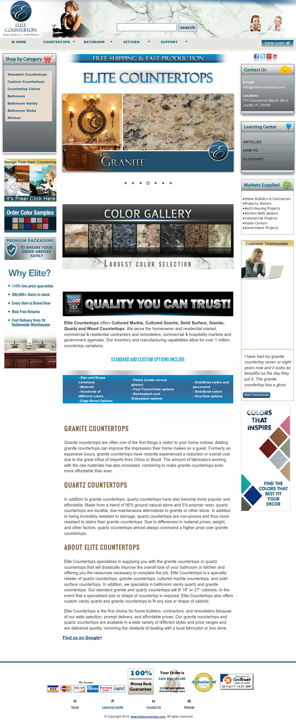 Elite Countertops Competitors, Revenue And Employees   Owler Company Profile