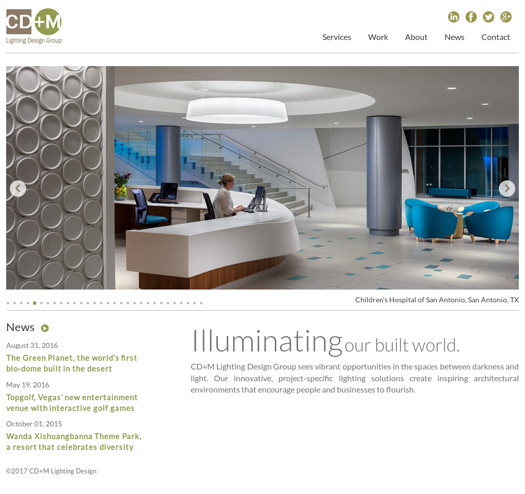 CD+M Lighting Design Group Website History