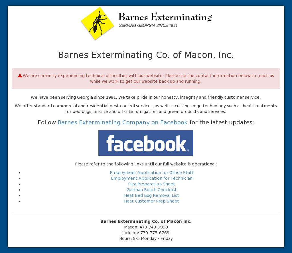 Barnes Exterminating Co  of Macon Competitors, Revenue and