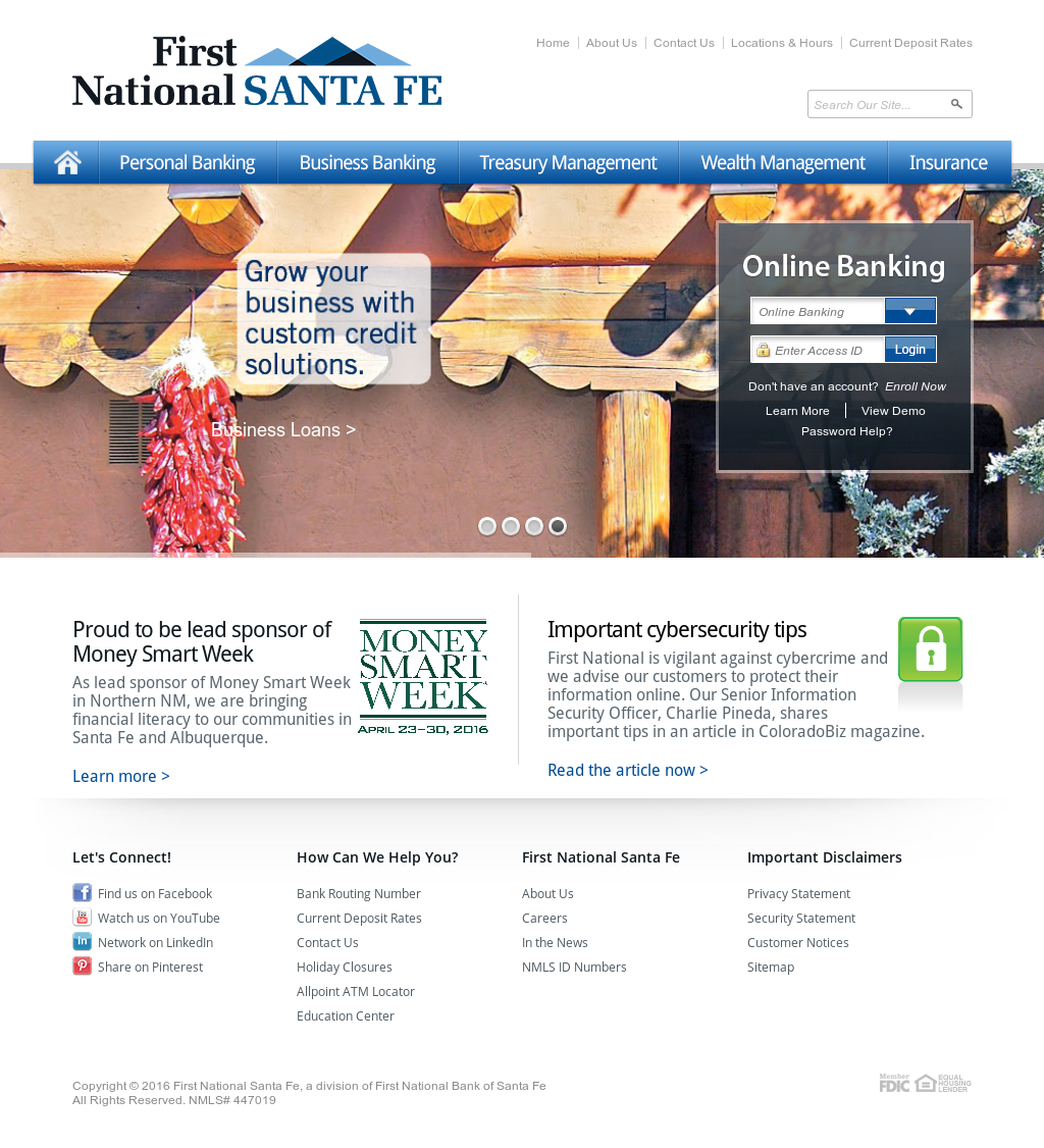 First National Bank Of Santa Fe Competitors Revenue And Employees