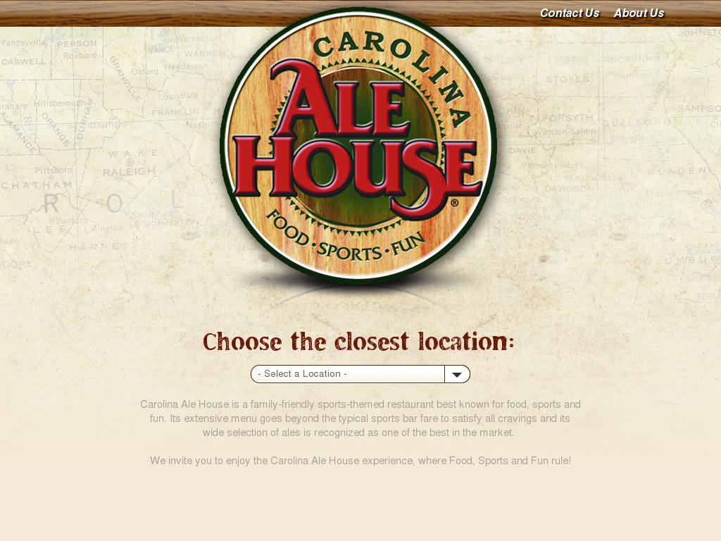 Carolina Ale House Website History