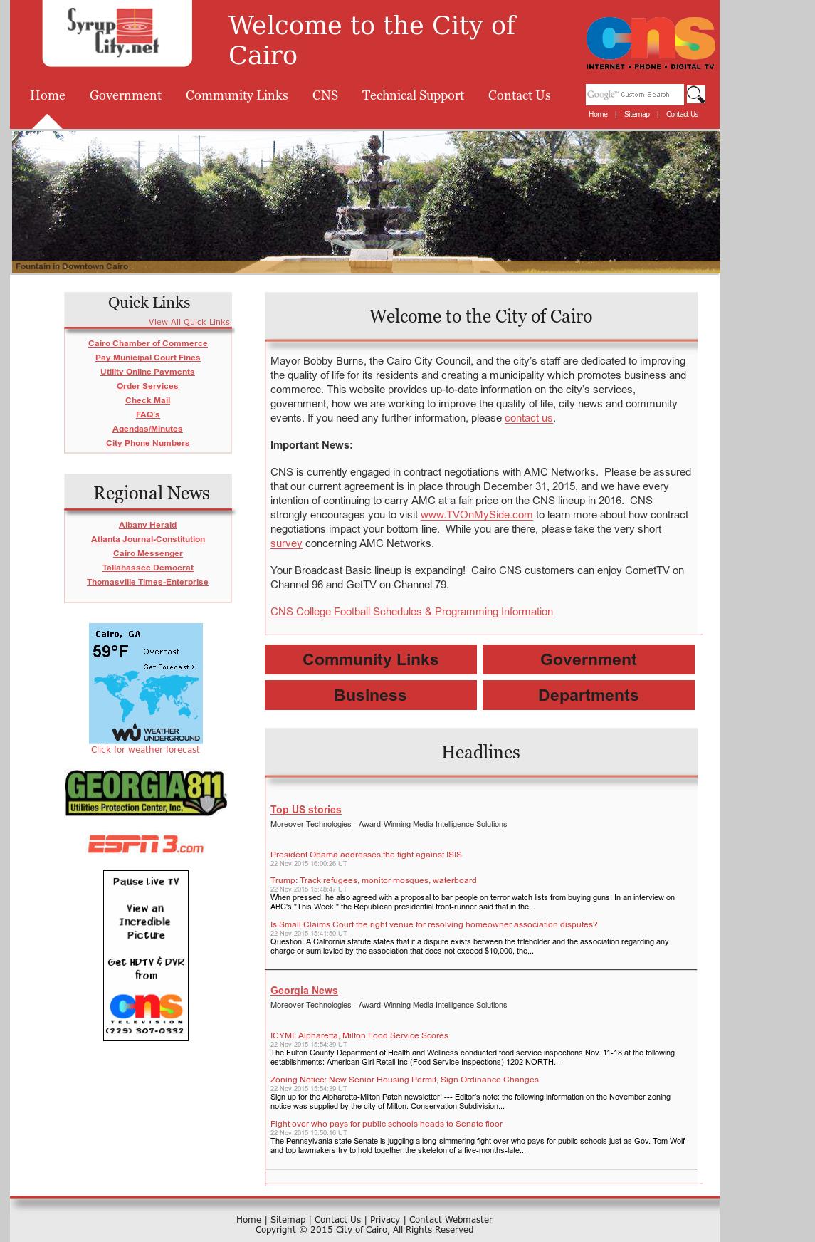 Community Network Services (CNS) Competitors, Revenue and