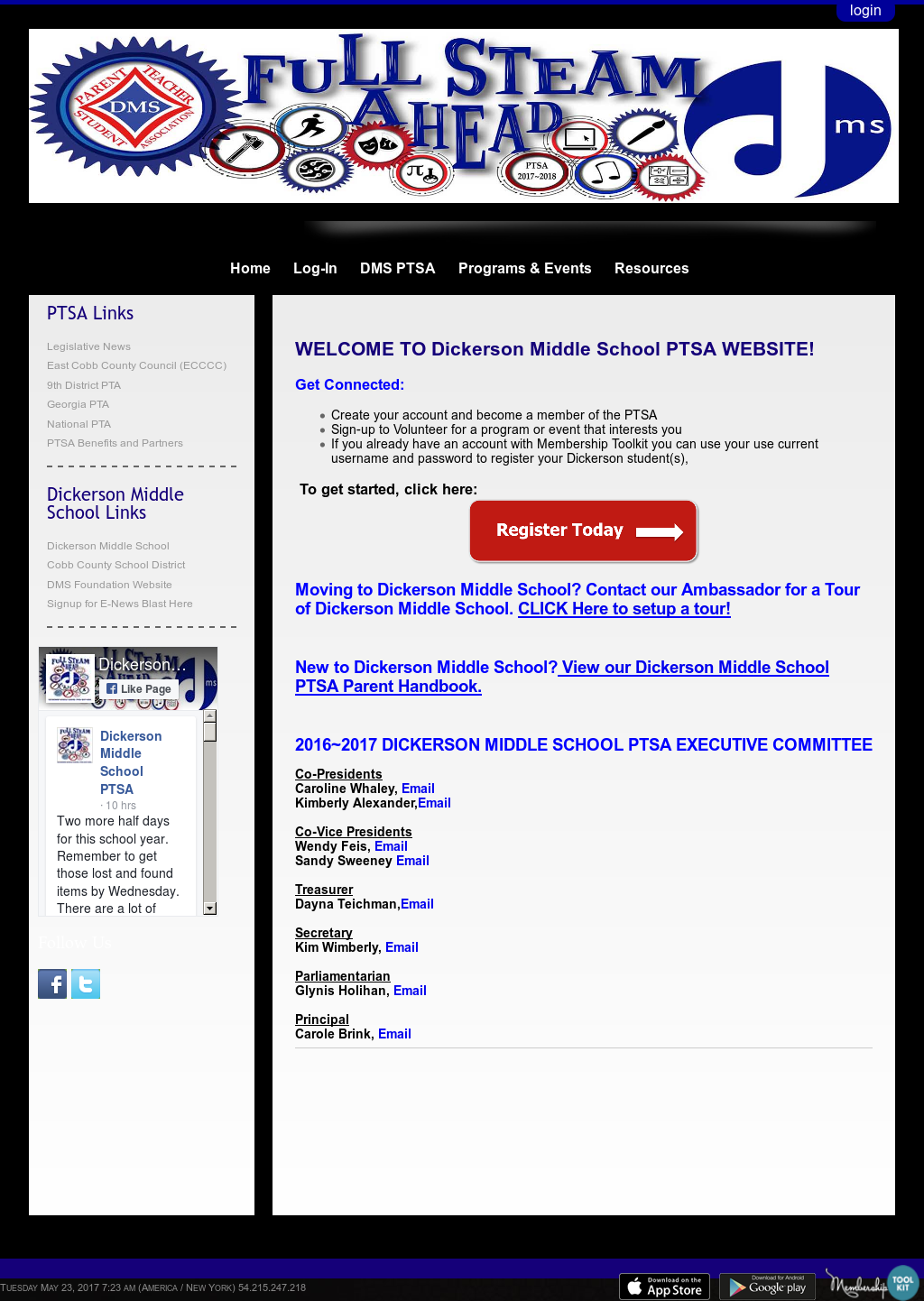 Dickerson Middle School Competitors Revenue And Employees Owler Screenshots From Android Electric Toolkit Schools Website Screenshot On May 2017