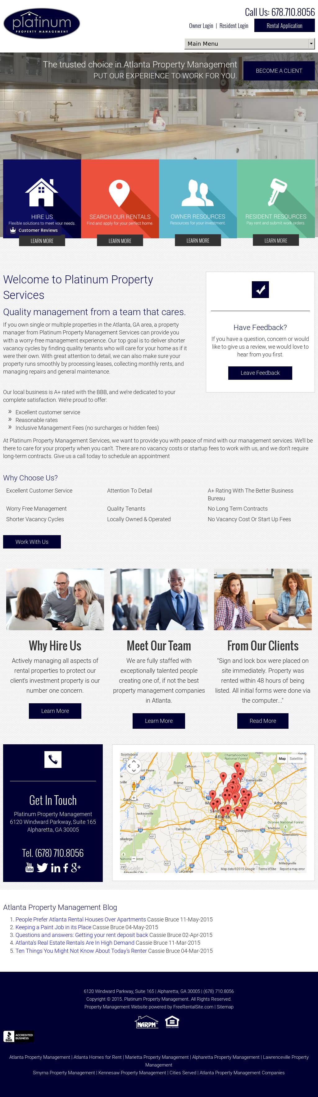 Platinum Property Management Services Competitors, Revenue