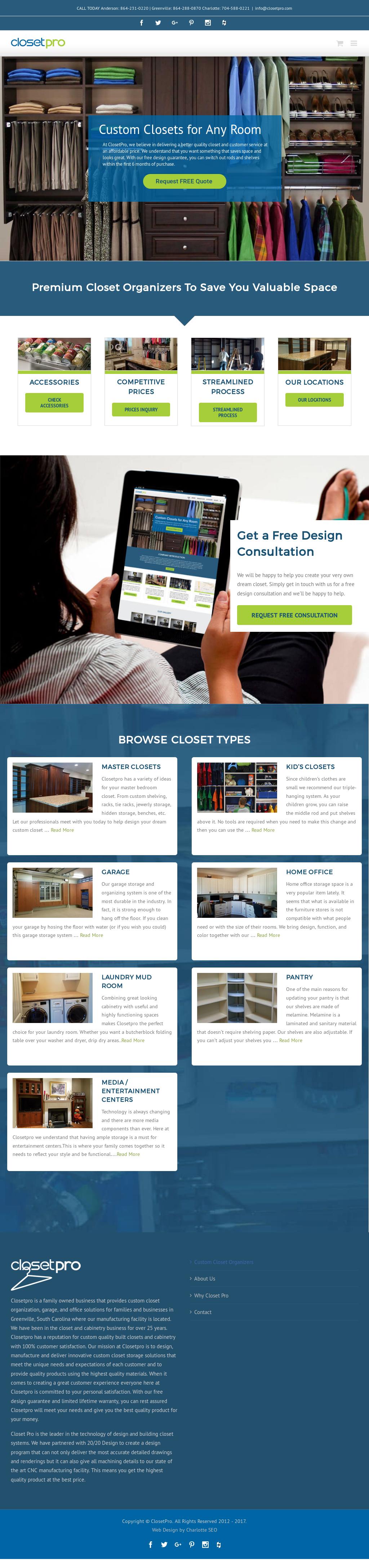 Atlanta Custom Closets Website History