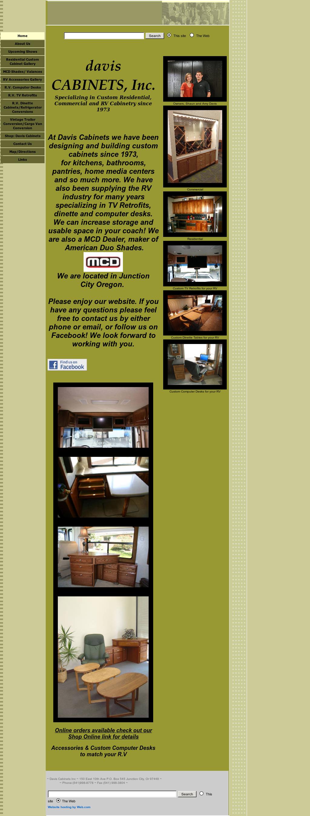 Davis Cabinets Website History