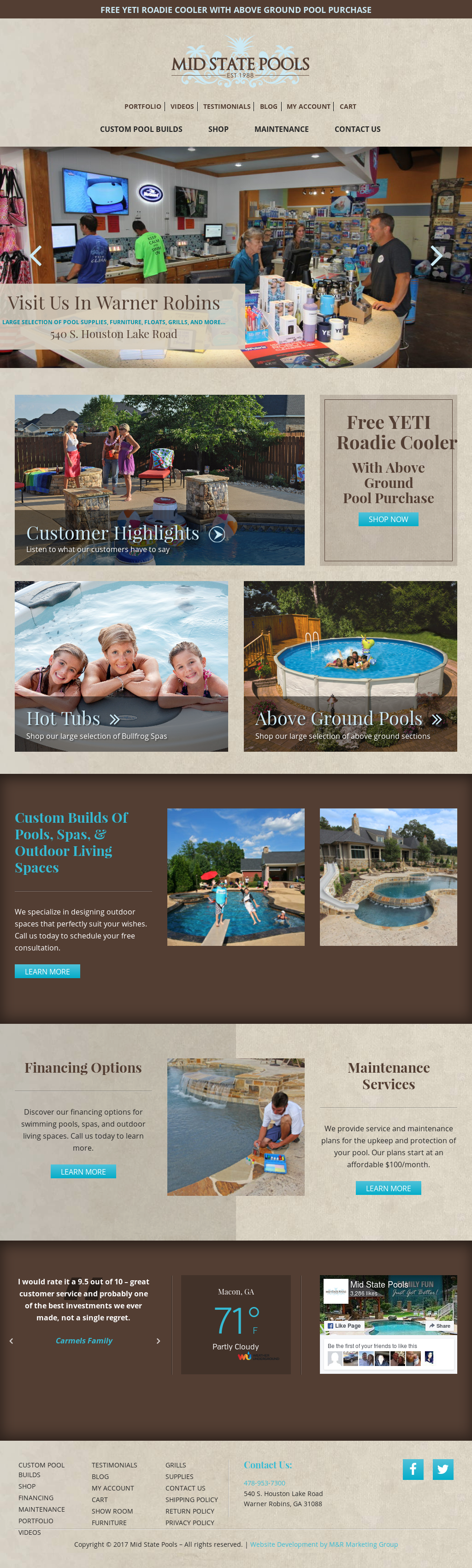Mid State Pools And Spas Website History