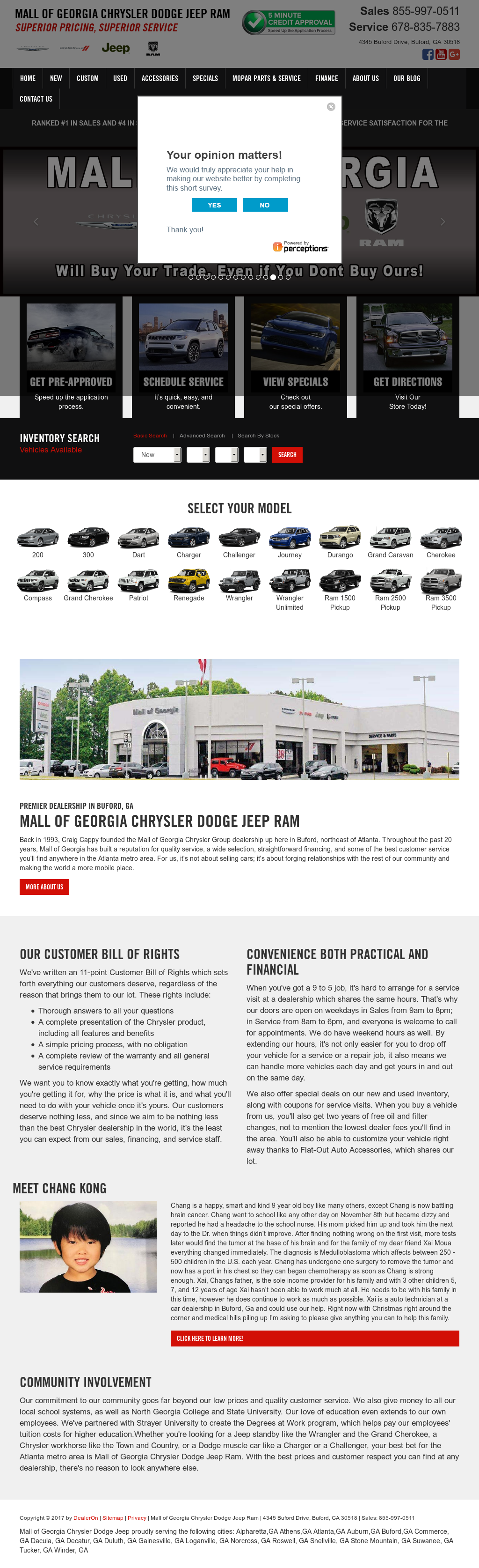 Mall Of Georgia Chrysler Dodge Jeep Website History