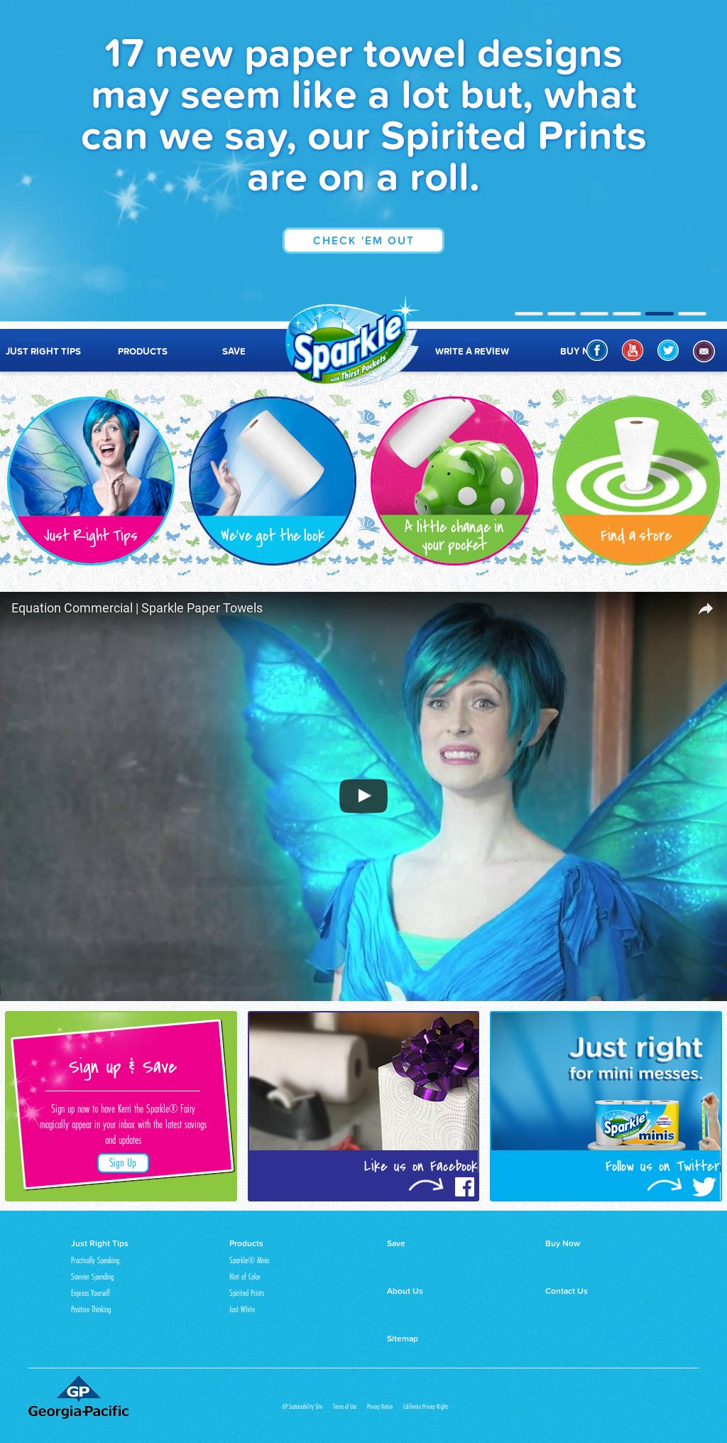 Sparkle Paper Towels Website History