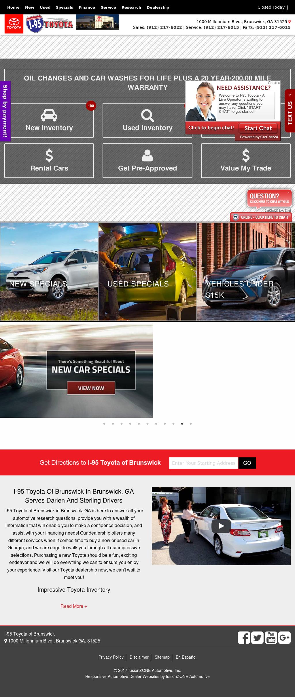 I 95 Toyota U0026 Scion Website History