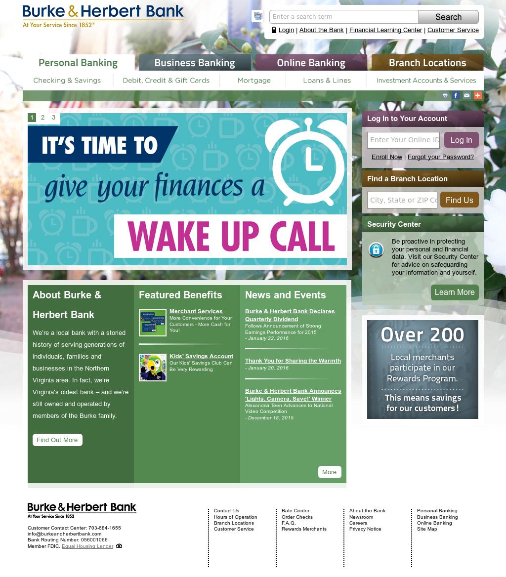 Burke & Herbert Bank Competitors, Revenue and Employees - Owler ...