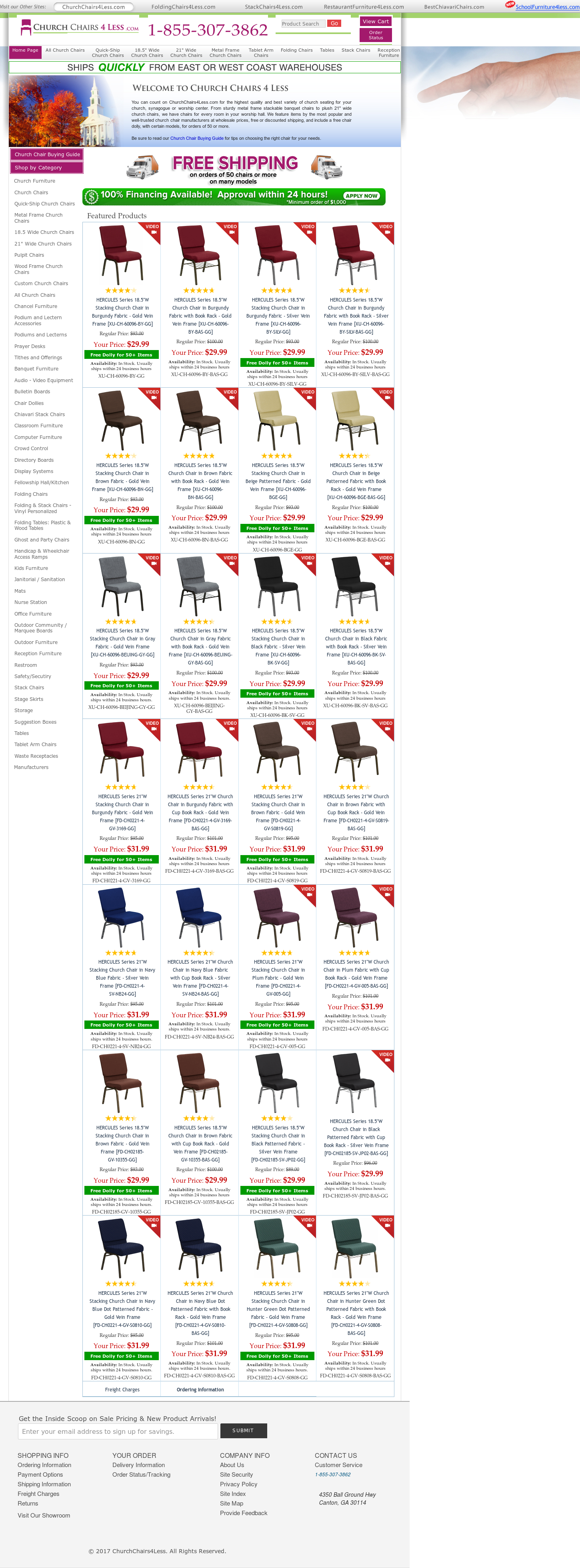 Churchchairs4Less Website History