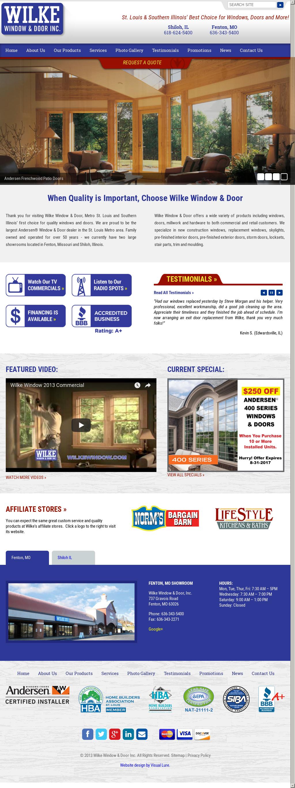 Wilke Window U0026 Door Website History