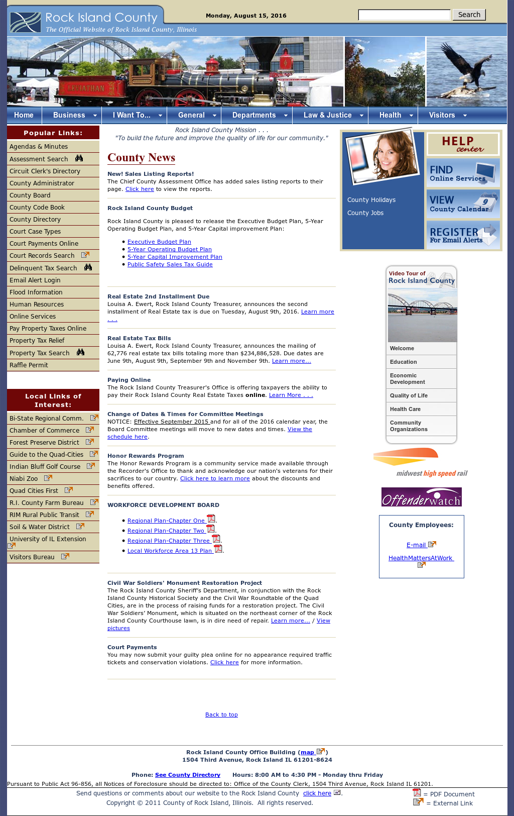 Rock Island County, Illinois Competitors, Revenue and