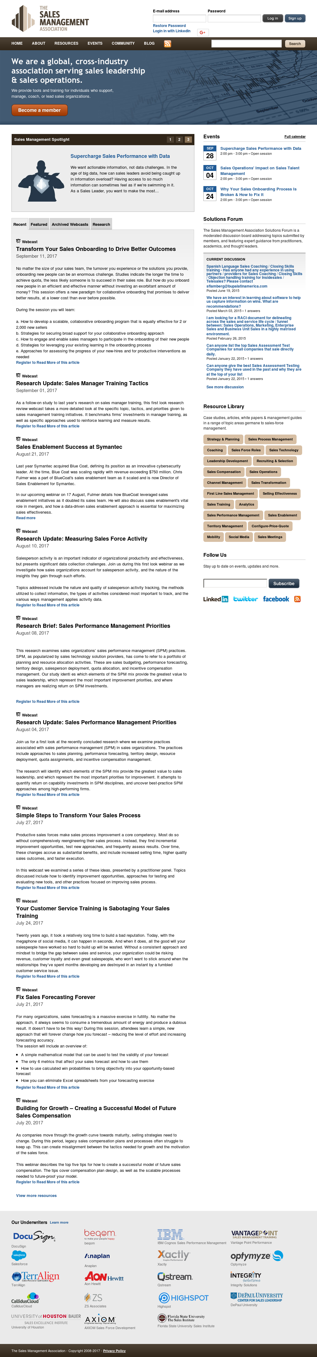The Sales Management Association Competitors, Revenue and