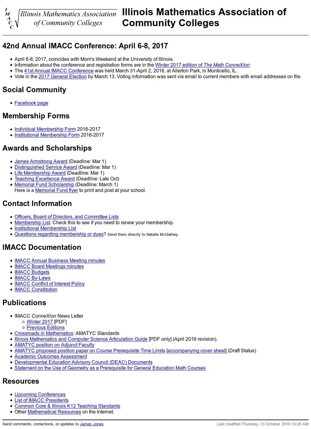 Illinois Mathematics Association of Community Colleges
