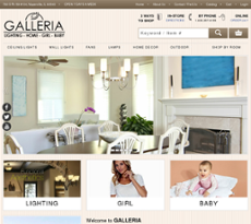 Galleria Lighting Website History