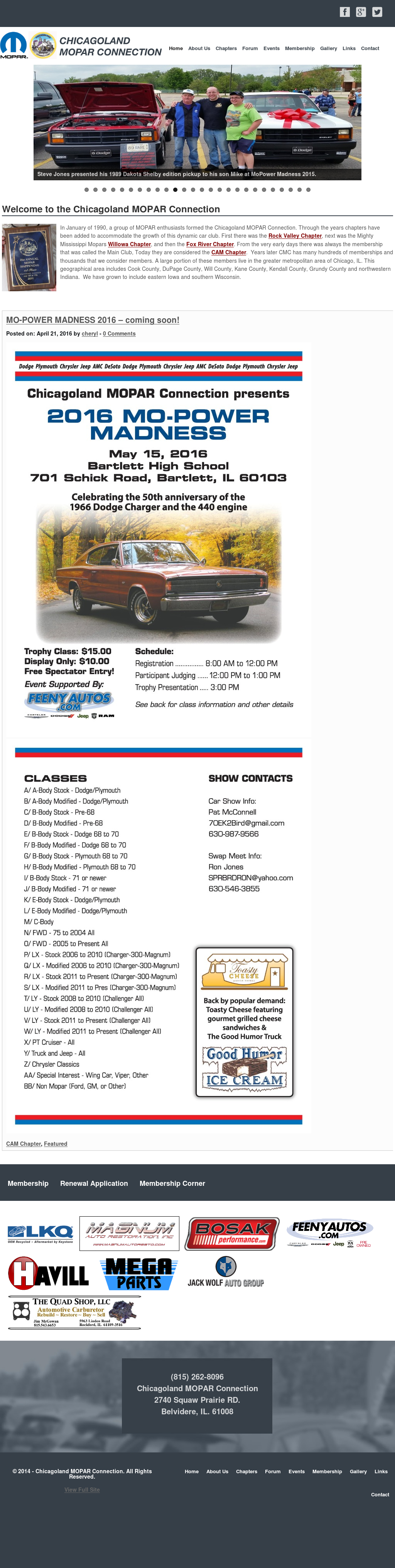 Chicagoland Mopar Connection Competitors, Revenue and