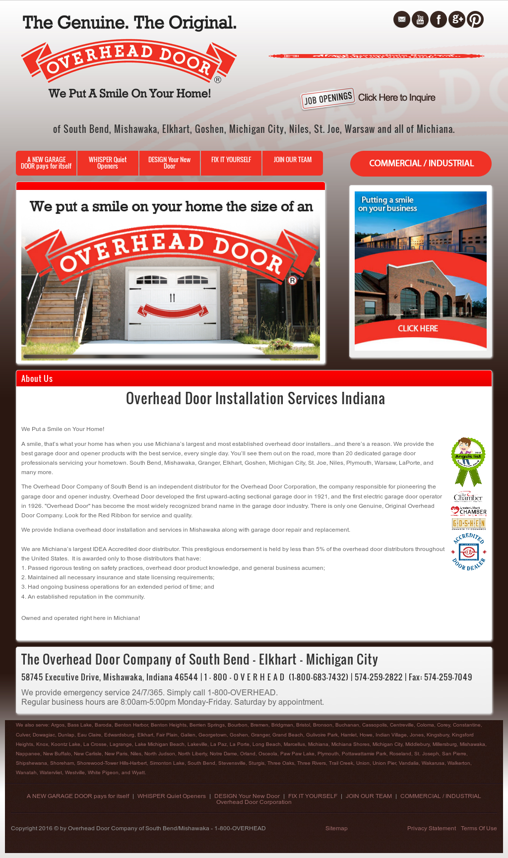 Gentil Overhead Door South Bend Competitors, Revenue And Employees ...