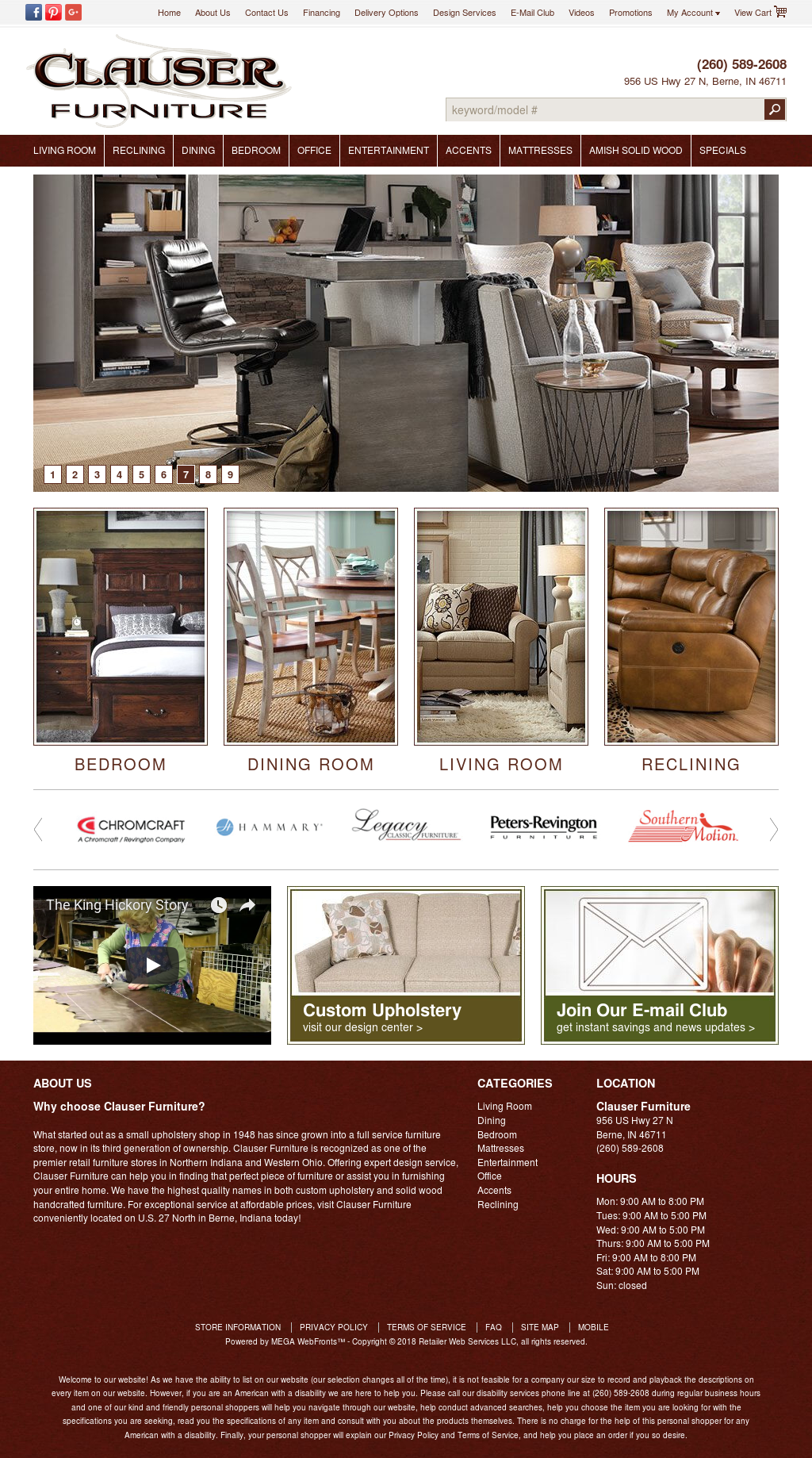 Attrayant Clauser Furniture Website History