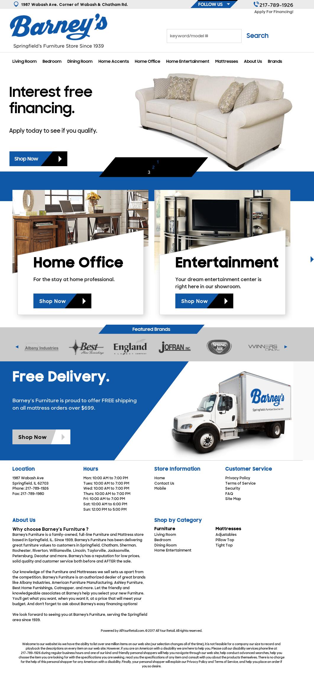 Barneyu0027s Furniture Website History