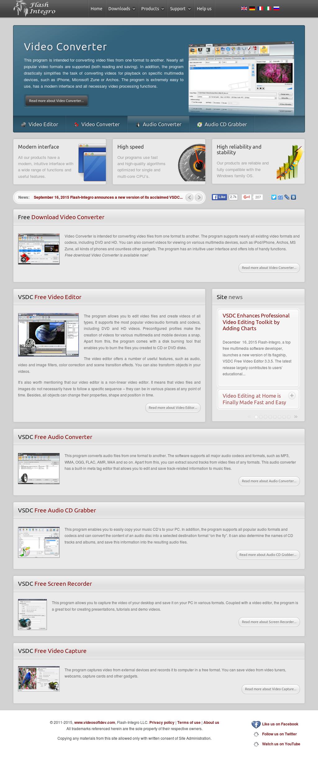 Owler Reports - Press Release: VideoSoftDev : Flash-Integro