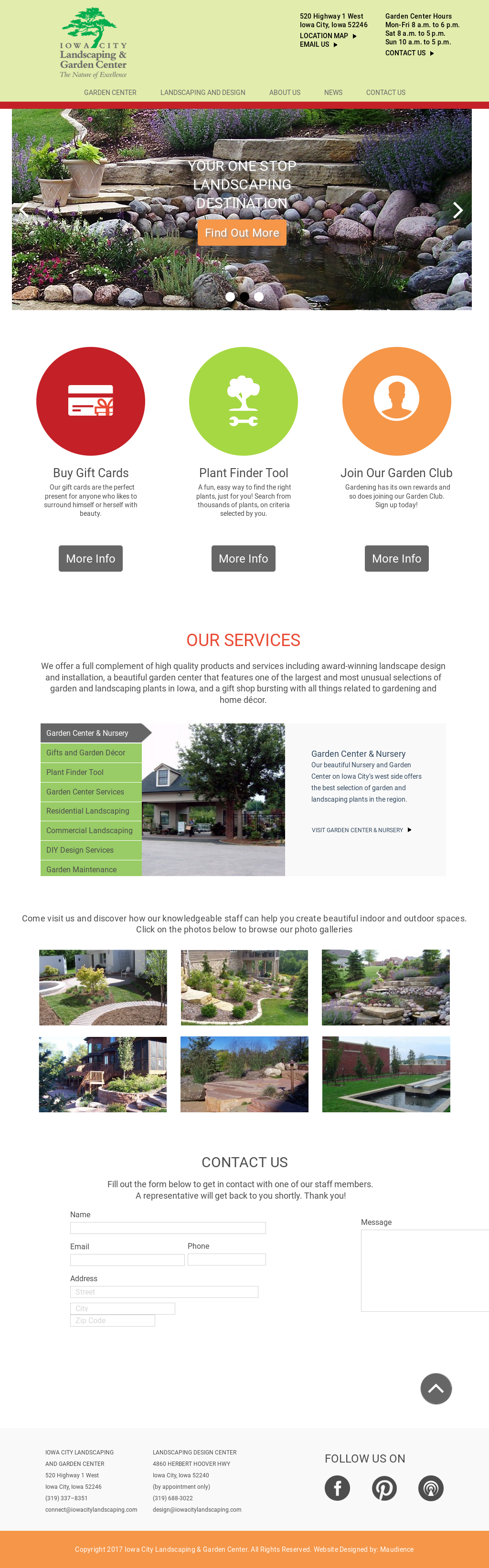 Website History - Iowa City Landscaping And Garden Center Competitors, Revenue And