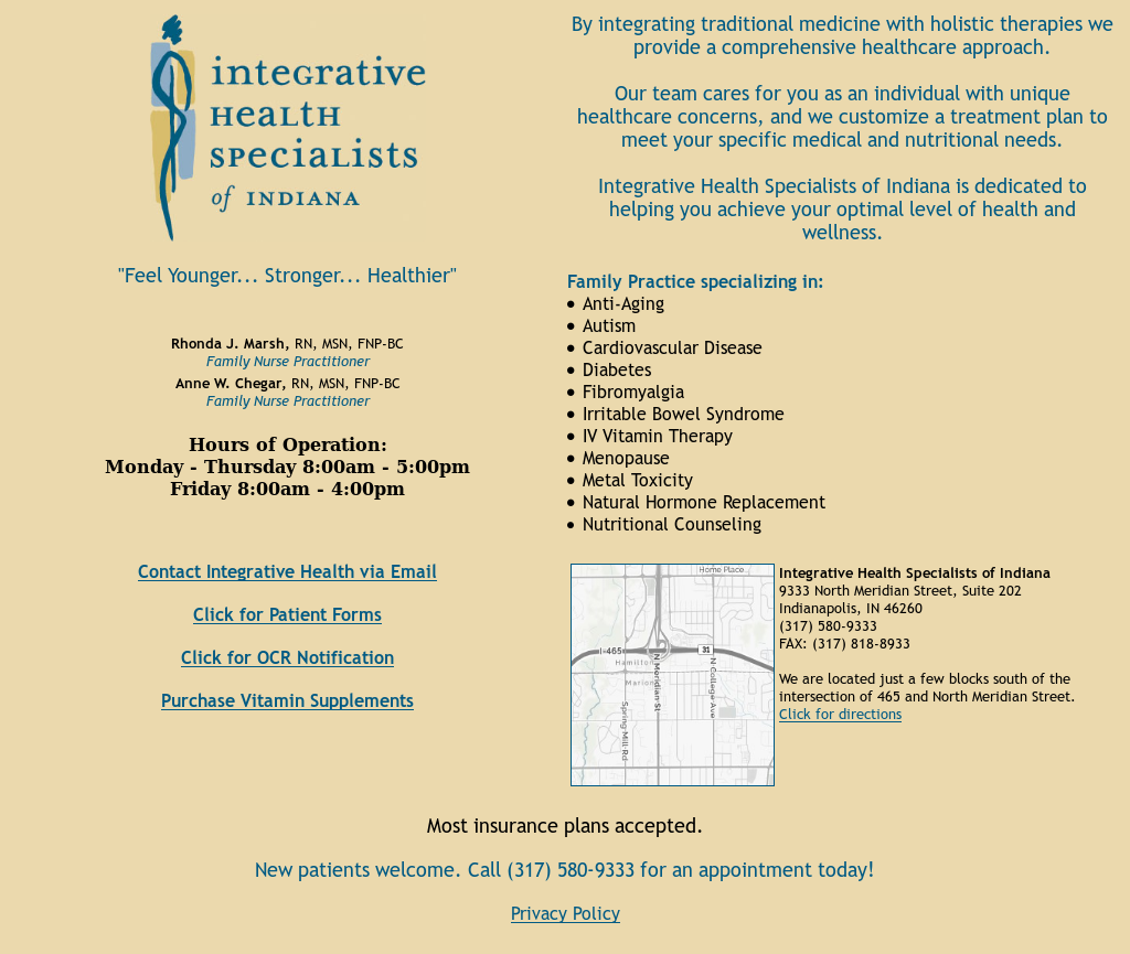 Integrative Health Specialists of Indiana Competitors, Revenue and