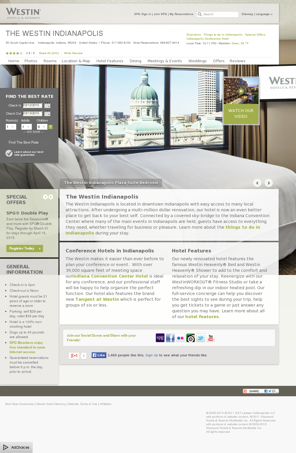 Westin Indianapolis Competitors Revenue And Employees Owler