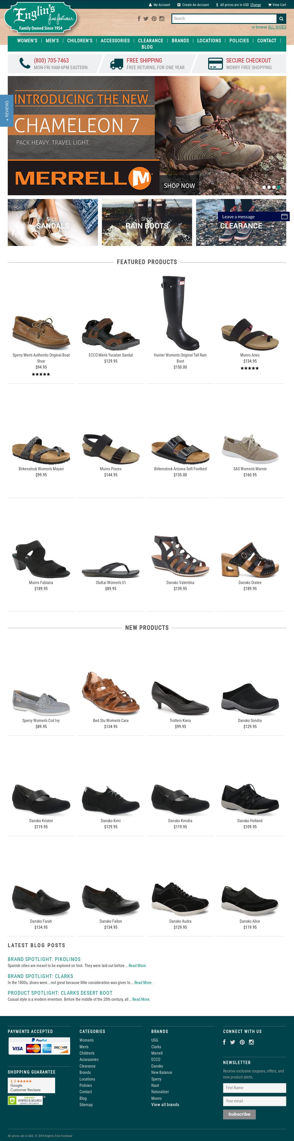 798b81f823e Englins Fine Footwear Competitors
