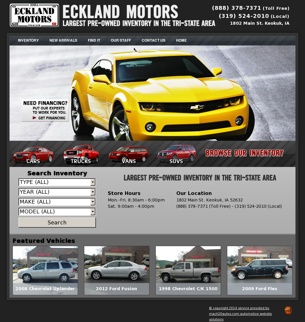 Eckland Motors Keokuk Iowa >> Eckland Motors Competitors Revenue And Employees Owler Company