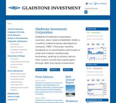 Gladstone Investment Corporation website history