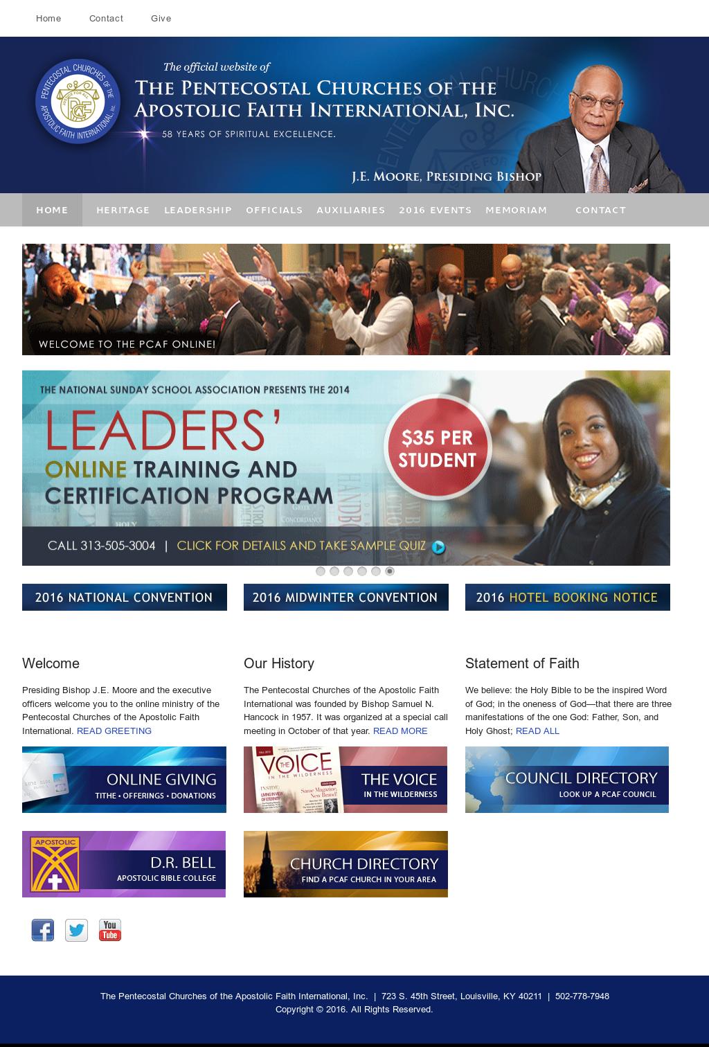 Pentecostal Churches of the Apostolic Faith Competitors