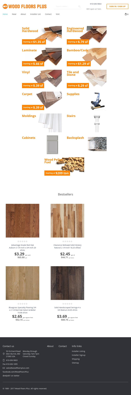 Wood Floors Plus S Website Screenshot On Feb 2017