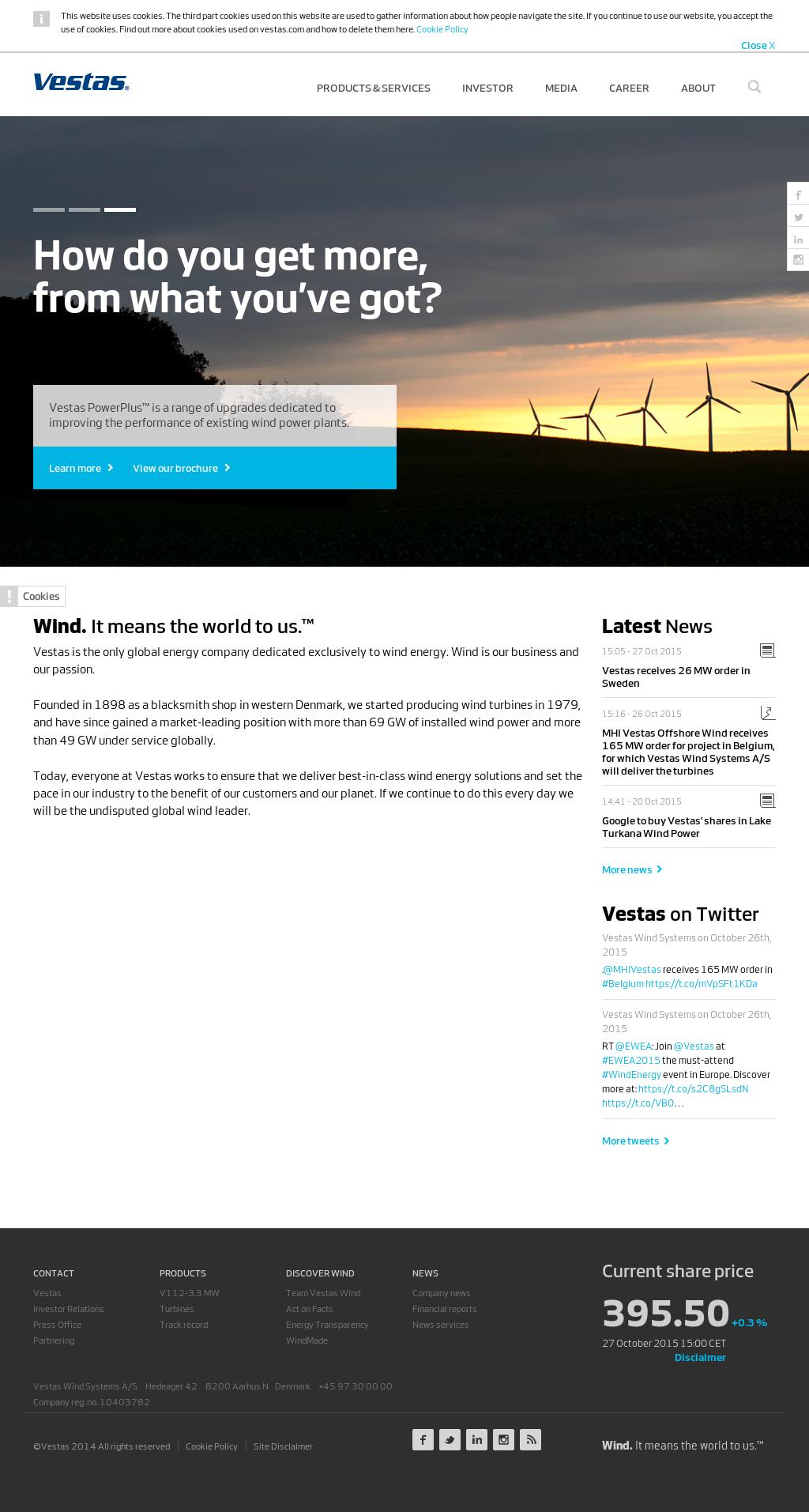 Vestas Competitors, Revenue and Employees - Owler Company Profile
