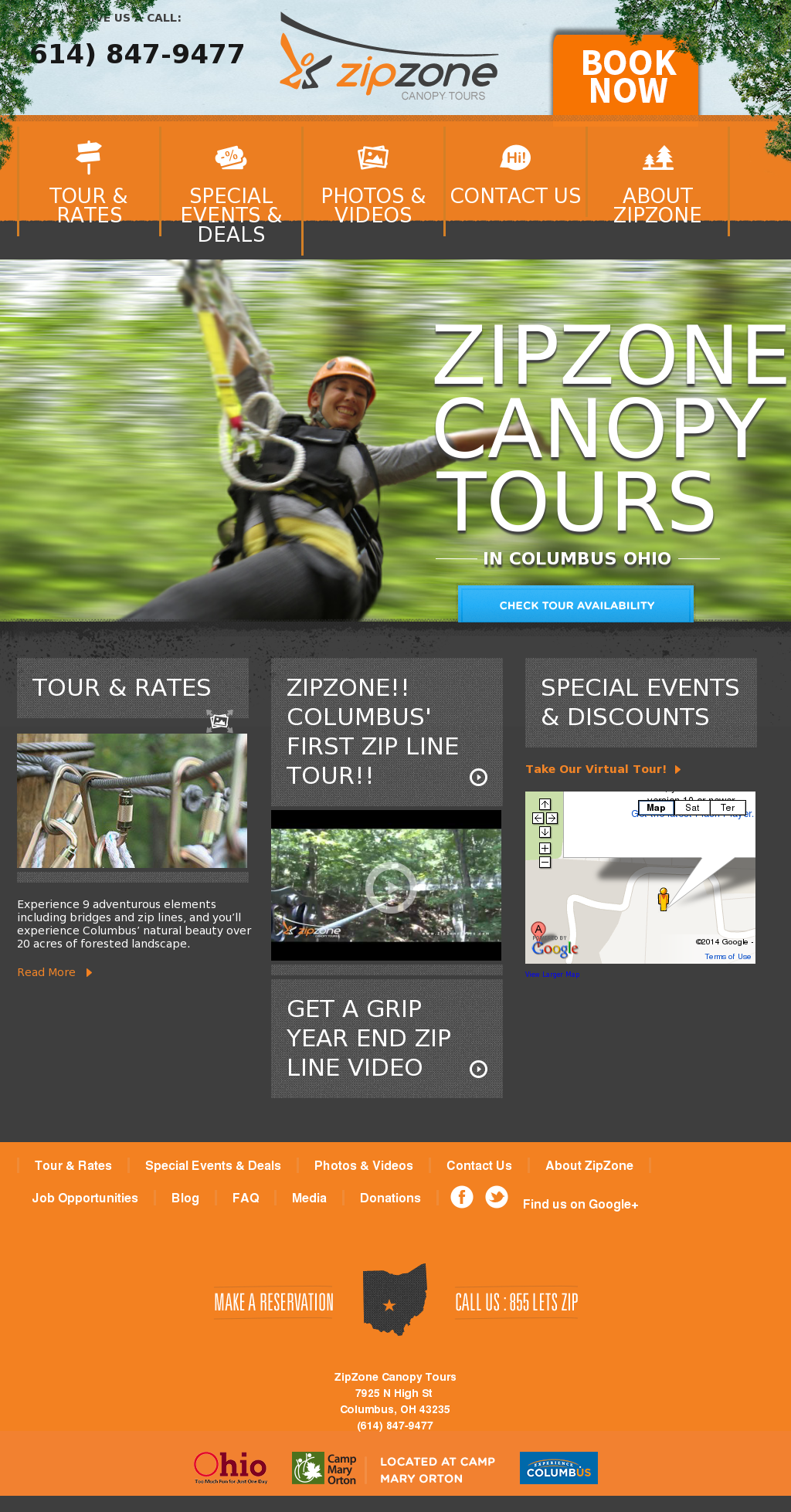 Zipzone Canopy Tours Columbus Hotels And Tours Image