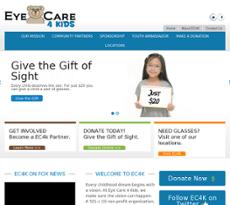 Eye Care 4 Kids website history