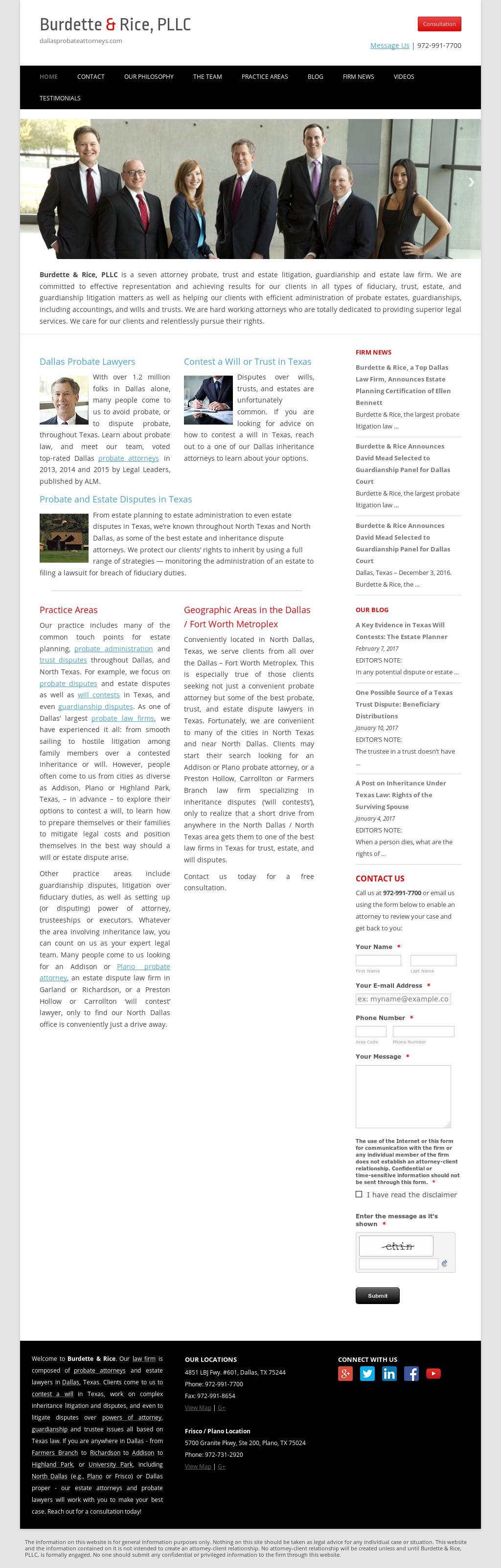Owler Reports - Press Release: Dallasprobateattorneys : Burdette