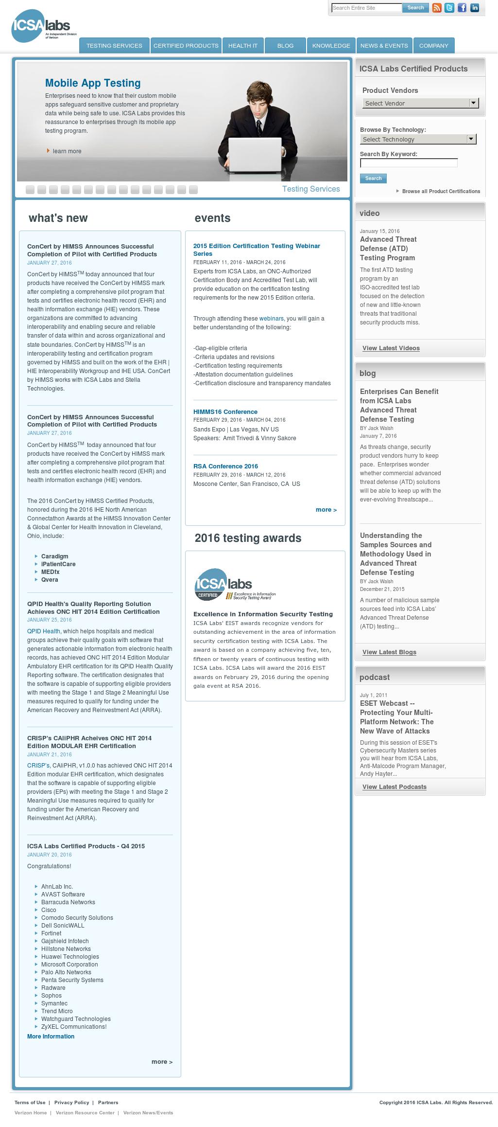 Owler Reports Icsa Labs Verizons Icsa Labs Certifies Fireeye