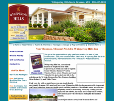 Branson Mo Lodging & Accommodations at the Whispering Hills