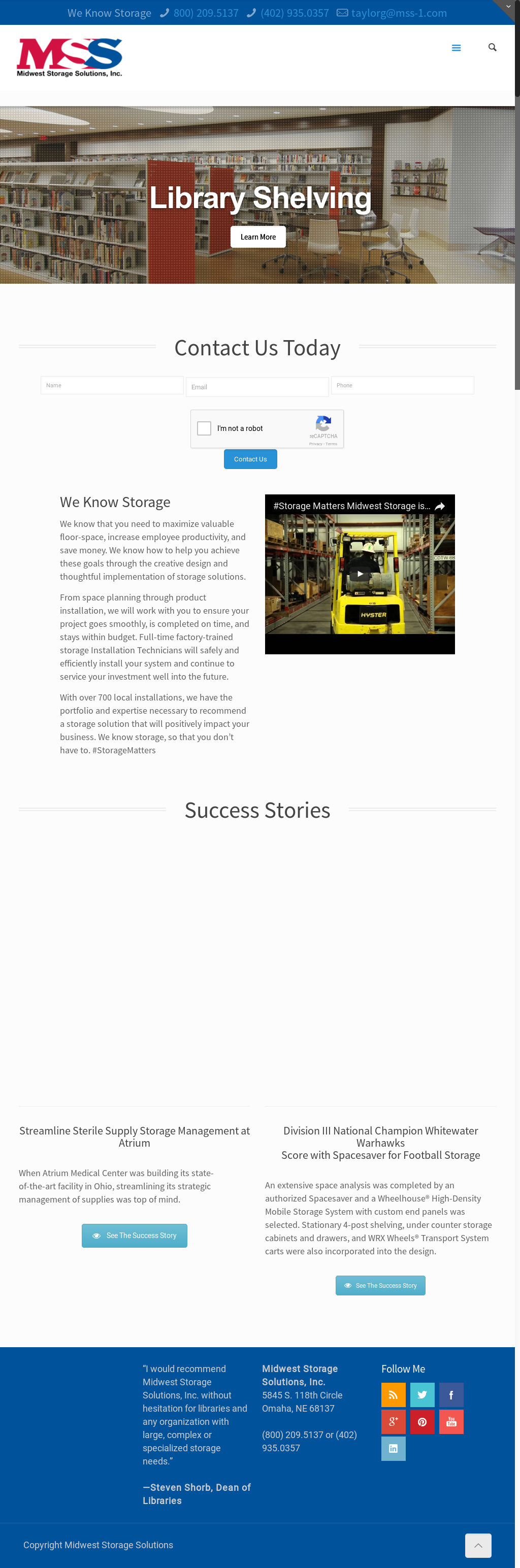 Midwest Storage Solutions Website History