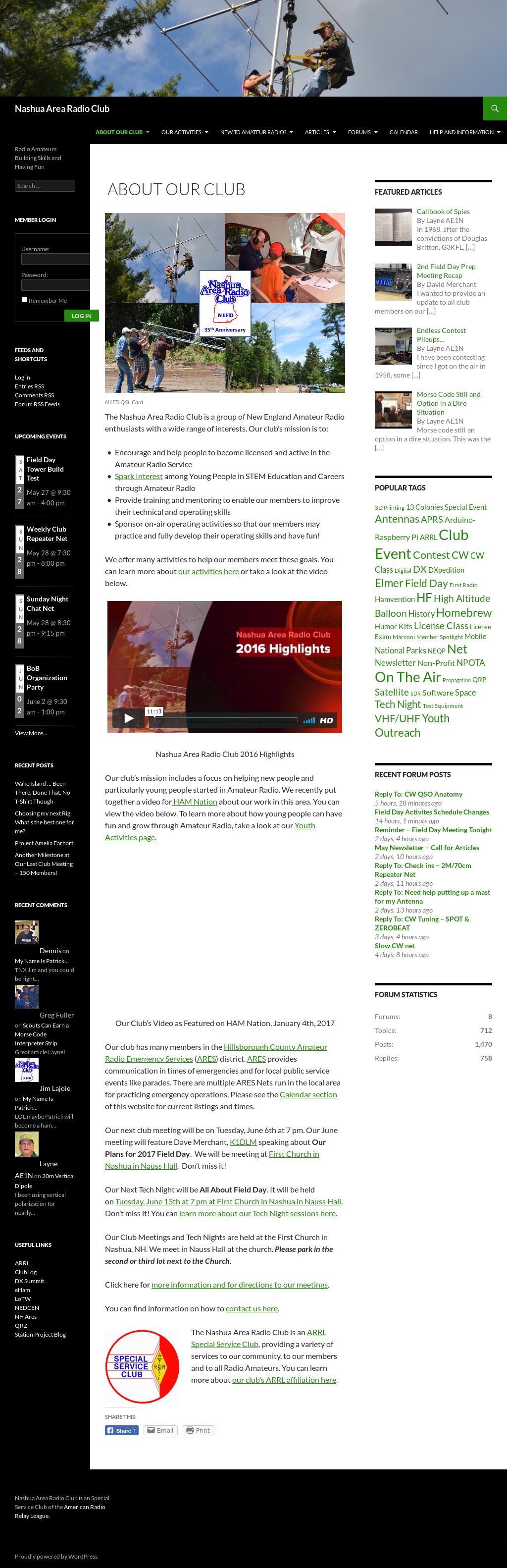Nashua's Amateur Radio Club Competitors, Revenue and