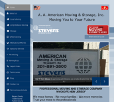 A American Moving Storage Website History