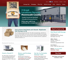 Red Bank Self Storage Website History