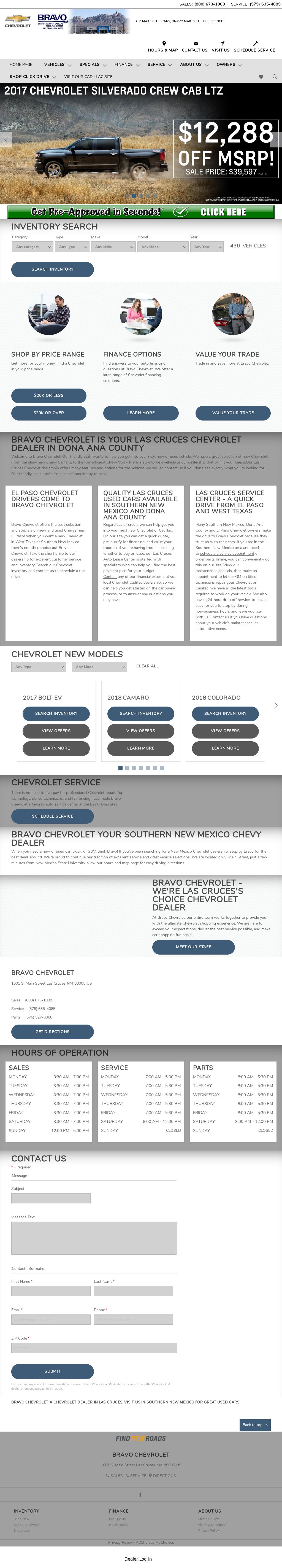 Bravo Chevrolet Cadillac Website History